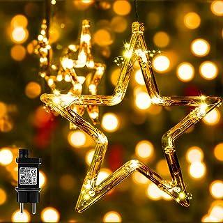Luces Navidad - Adornos Navidad Exterior con 138 LED 8Modos&12 Estrellas, Guirnaldas Luces Interior Habitacion