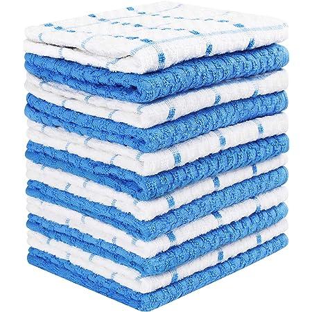 Utopia Towels - 12 Toallas de Cocina, paños de Cocina (38 x 64 cm) (Azul y Blanco)