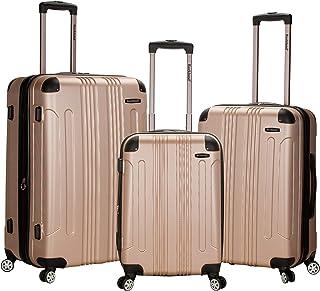 Rockland - Juego de 3 piezas de Sonic Vertical, Juego de maletas verticales de 3 piezas para abdominales, Champán, Una talla