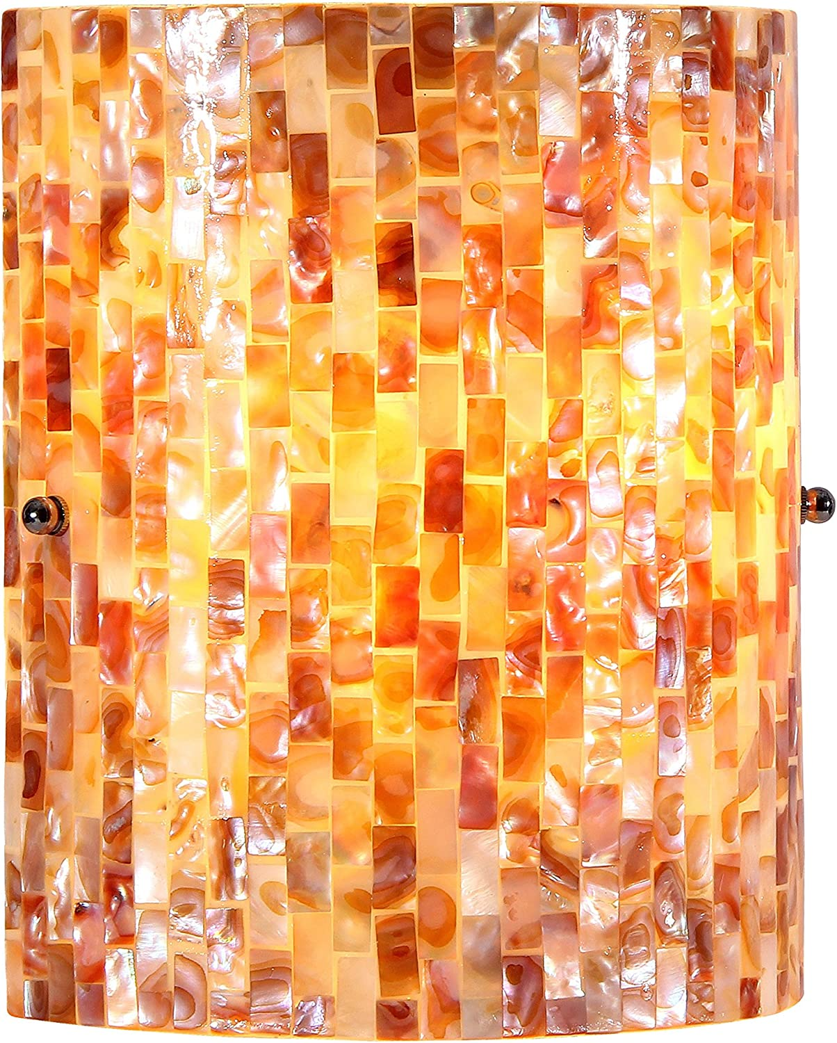 Chloe Lighting CH3CT28CC08-WS1 Shelley Mosaic Wall Sconce with 5  Wide