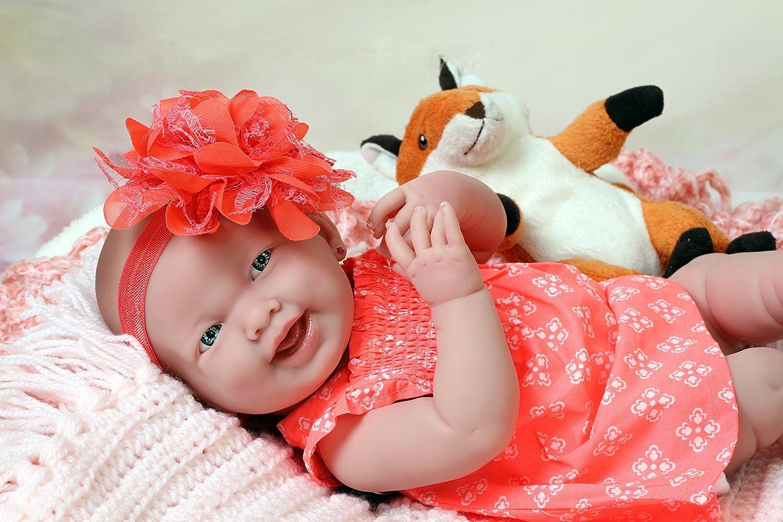 YXDDG Reborn baby dolls girls cute new long hair princess simulation baby-pink 55cm(22inch)