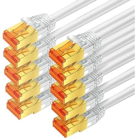 Mumbi Lan Kabel 0 25m Cat 7 Rohkabel Netzwerkkabel S Computer Zubehör