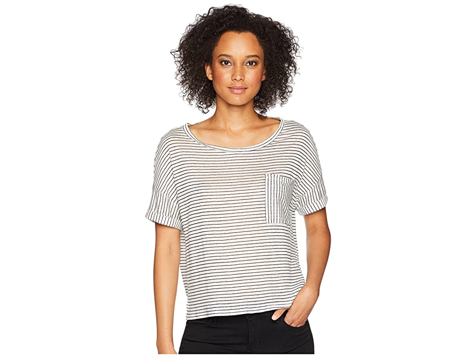 Three Dots Mojave Stripe Top (Night Iris) Women