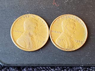 1909 VDB Lincoln Cent + 1909 P -- Set of 2 coins -- 1st Year of Issue -- Good to XF
