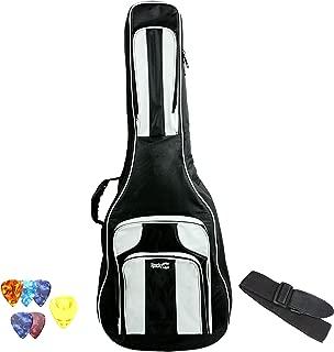 RockJam 41 inch Guitar Waterproof 3-Pocket Dual Adjustable Shoulder Strap Padded Deluxe Gig Bag with Guitar Strap and Picks