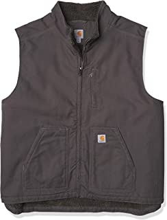 mens Sherpa Lined Mock-neck Vest