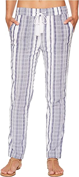 Yarn Dye Stripe Beach Jogger Bottom Cover-Up