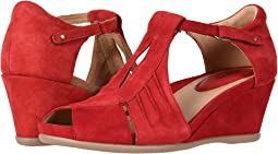 Bright Red Silky Suede