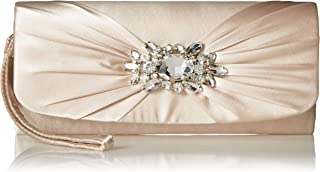 Jessica McClintock Marian Wristlet with Rhinestone Broach