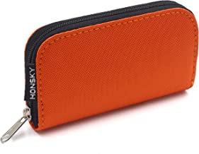 SD Card Case, 22 Slot Zippered Memory Card Holder, Memory Card Case Organizer Storage Wallet for SD Cards, Micro SD Cards, CF SDXC SDHC MMC, Orange
