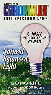 Chromalux Standard Clear 3 Way Light Bulb