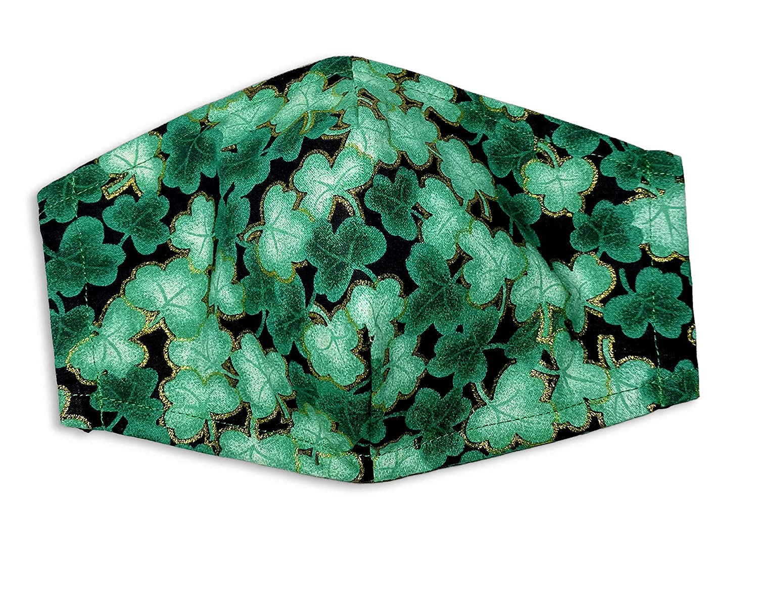St. Patricks Day Irish Shamrock Face Mask Covering Fitted Financial sales sale Ply 3 Product