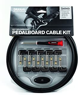 D'Addario DIY Solderless Pedalboard  Kit, 10 feet, 10 plugs