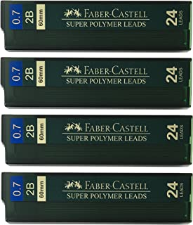 Faber-Castell 0.7mm 2B Super Polymer Premium Strong Dark Smooth Leads Mechanical Pencil Lead Refills For All 0.7 mm Mechan...