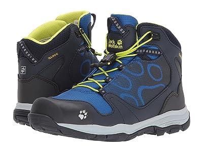 Jack Wolfskin Kids Akka Waterproof Mid (Toddler/Little Kid/Big Kid) (Vibrant Blue) Boys Shoes