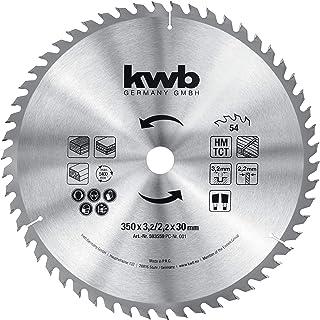 kwb 593559 cirkelsågblad 350 x 30, sågblad för bordscirkelsågar, växlande tänder för medelstora skär, Z-54 tänder, 350 x 3...