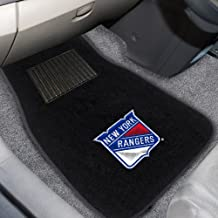 FANMATS 17174 NHL New York Rangers 2-Piece Embroidered Car Mat