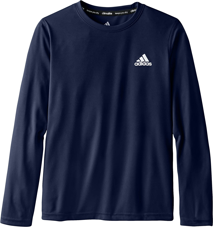 Amazon.com: adidas Big Boys' Essential Clima Long Sleeve Tee, Navy ...