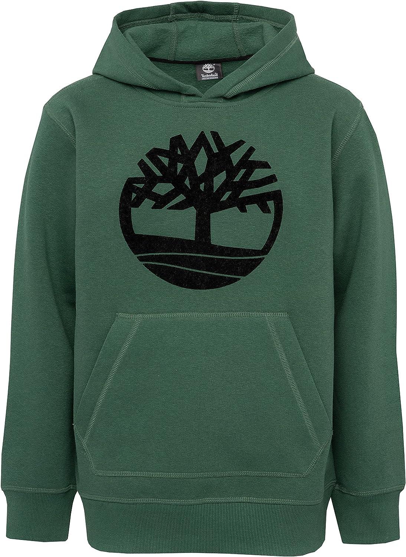Timberland Big Boys' Long Sleeve Signature Logo Fleece Hoodie