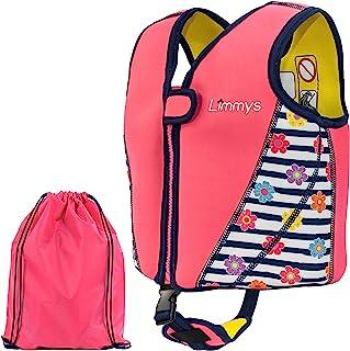 Limmys premium neopren badväst för barn - Idealisk flytförmåga för flickor - Bonus påse med snörning ingår