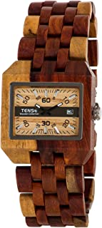 Tense Discovery Comox Rectangular Inlaid Sandalwood Wooden Watch B5100I LWGF
