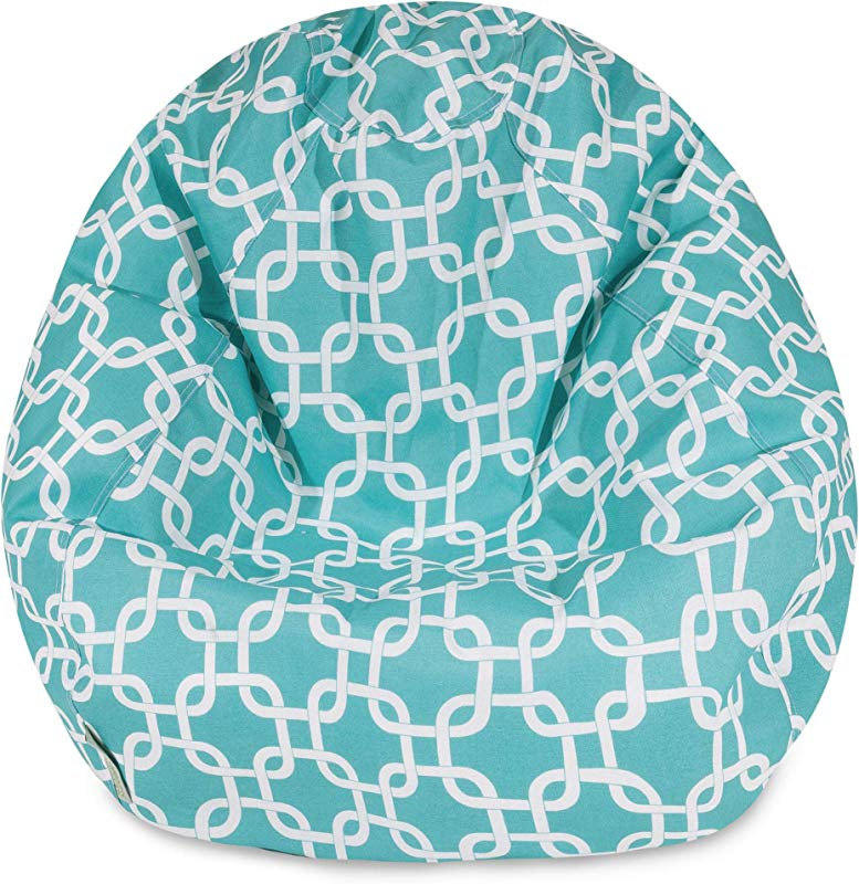 Majestic Home Goods Classic Bean Bag Chair Links Giant Classic Bean Bags For Small Adults And Kids 28 X 28 X 22 Inches Teal Blue