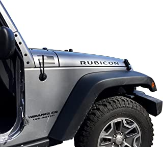 AntennaMastsRus - The Original 6 3/4 Inch is Compatible with Jeep Wrangler JK - JL - Gladiator (2007-2020) - Short Rubber Antenna - Internal Copper Coil - Premium Reception - German Engineered