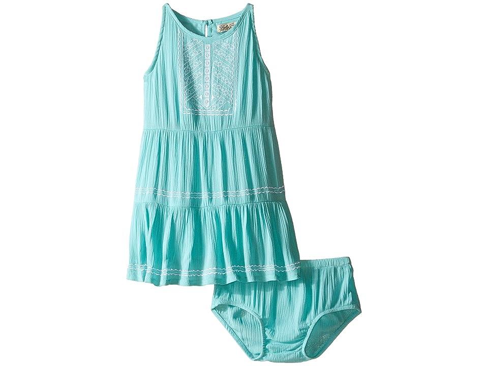Lucky Brand Kids Abilyn Dress with Lace (Toddler) (Aqua Sky) Girl