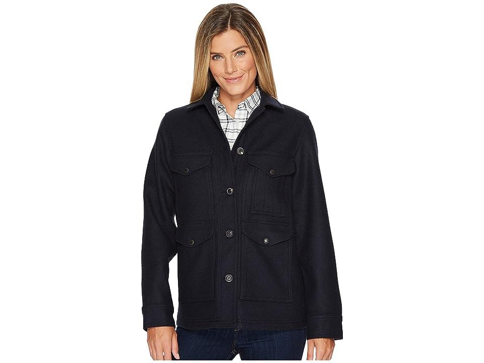 Filson Lined Seattle Cruiser Jacket (Navy) Women's Coat