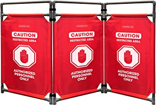 Safety Barricade, High Visibility 3 Foot Portable Safety Barrier with Heavy Duty PVC Frame, Foldable, Lightweight, Durable, Hi-Visibility-