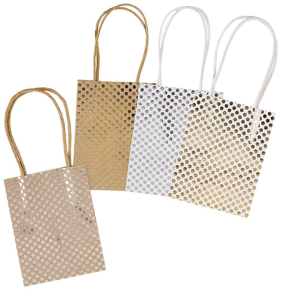 Darice Paper Gift Bags Metallic Pattern Designs None