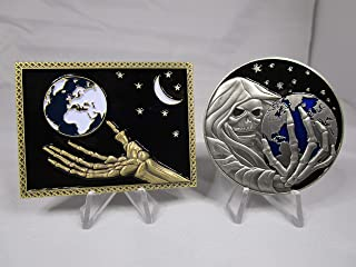 Set of 2 Challenge Coins Joint Special Operations Command Jsoc and CIA Reapers