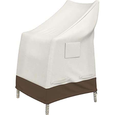 Set of 2 /& Stackable Patio Chairs Cover Basics Dining Arm Chair Cover