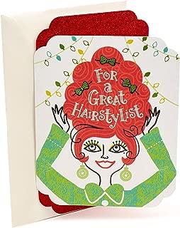 Hallmark Christmas Card for Hairstylist (Hair and Bows)
