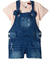 7 For All Mankind Kids Tee and Overall Set (Toddler)