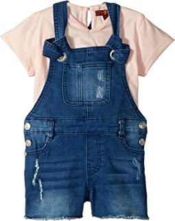 7 For All Mankind Kids - Tee and Overall Set (Toddler)