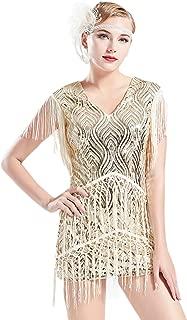 1920s Flapper Dress Long Fringed Gatsby Dress Roaring 20s...