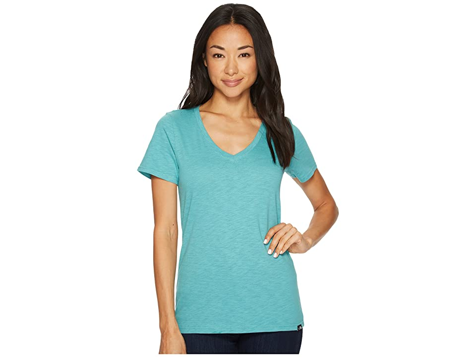 The North Face Short Sleeve Sand Scape V-Neck Tee (Bristol Blue) Women