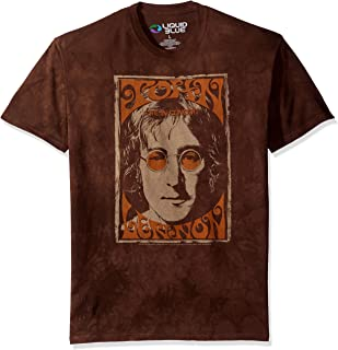 Men's John Lennon Live in New York City Concert Poster Tie Dye Short Sleeve T-Shirt
