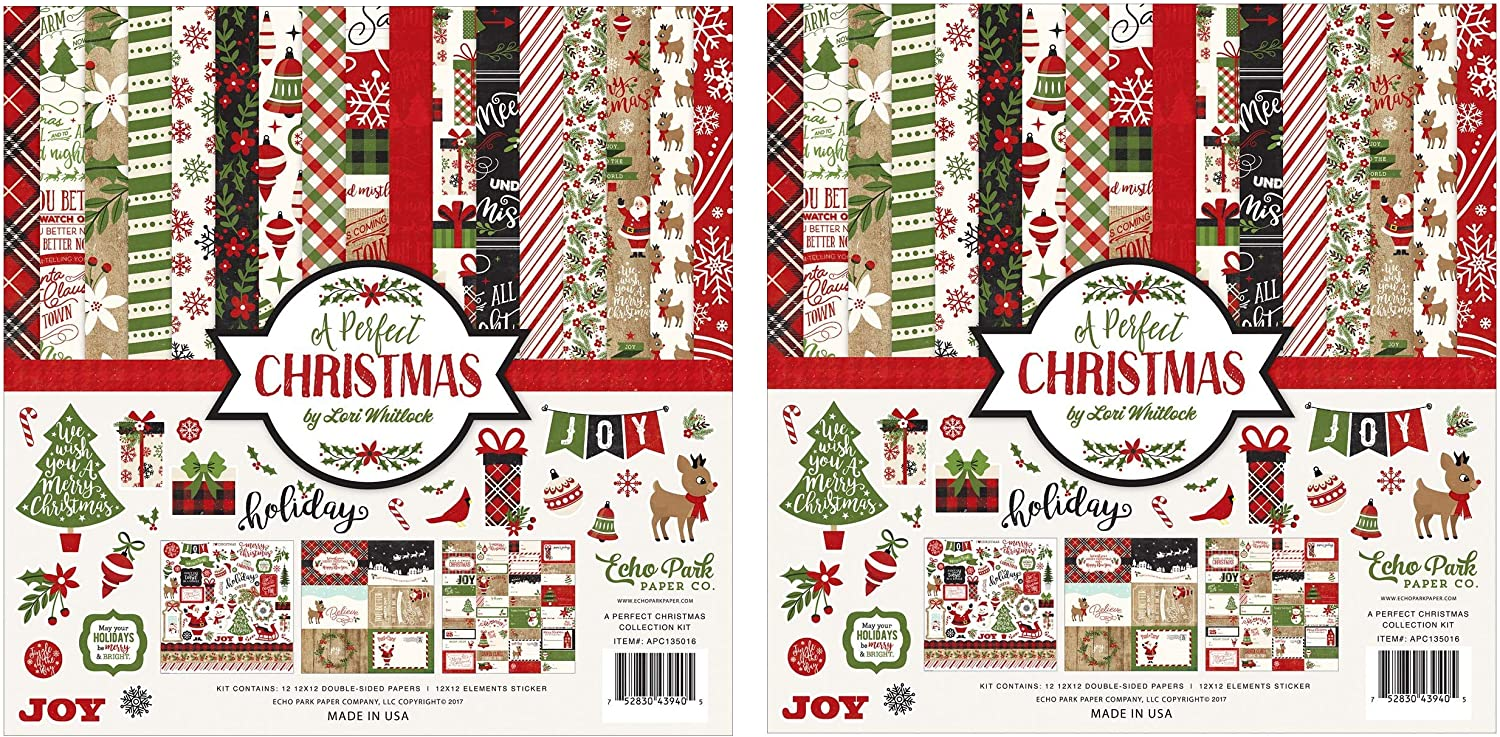 Christmas In The Park 2021 Dates Scrapbooking Echo Park Paper Company Perfect Christmas Collection Kit 2021 Version Arts Crafts Sewing