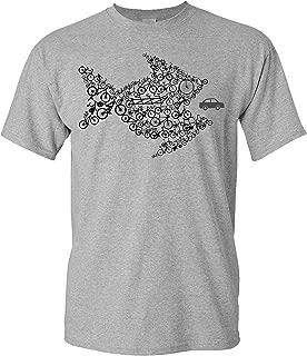 Cafe Racer Biker T-Shirt Racing Camiseta Motor Moto Rally Tuning Coche Unisex Car Petrolhead: Boceto del turbocompresor Regalo Hombre JDM Camisetas Coches
