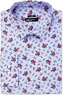Men's Slim Fit Checker Print Woven Stretch Dress Shirt BHFO