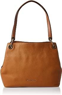 Raven Large Leather Shoulder Bag- Acorn