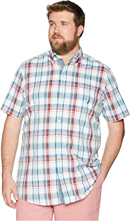 Big & Tall Short Sleeve Plaid Woven
