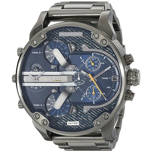 Diesel Mens DZ7331 Mr Daddy 2.0 Gunmetal-Tone Stainless Steel Watch