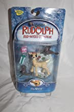 Rudolph the Red-Nosed Reindeer Clarice Holiday Action Figure with Christmas Seals, Presents and Snow Scene Base