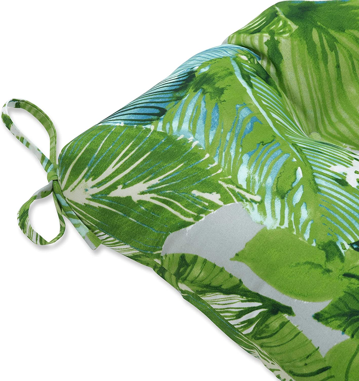 Pillow Perfect Outdoor Indoor Lush Leaf5  X 2 2 Large Chair Pads 2 Pack Green 17.5 x 16.5