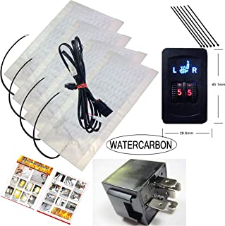 Far Infrared Carbon Fiber 5 Gear Double Wheel Ordinary Square Switch Heating 12v Electric Heated Seat Winter Car Pad Relaxation Durable Heater 12v Health and Health Care