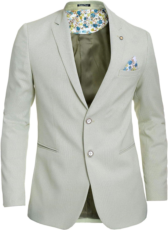 D/&R Fashion Mens Blazer Jacket Casual Formal Spotted Pattern Vivid Colours UK Size Cotton