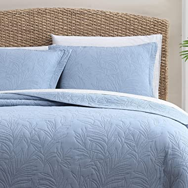 Tommy Bahama Costa Sera Collection Soft and Breathable, Quilt Bedpsread Coverlet Seasons, Pre-Washed for Added Softness, Quee